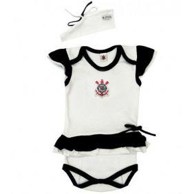 Body Bebê com Saia e Tiara Corinthians