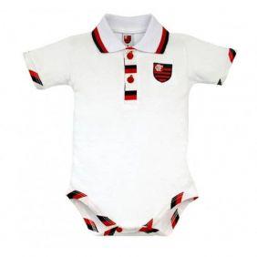 Body Bebê Manga Curta Polo Menino Flamengo