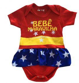 Body Infantil Manga Curta Bebê Maravilha