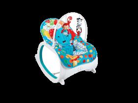 Cadeirinha Musical de Descanso Bebê Safari - Azul