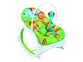Cadeirinha Musical de Descanso para bebê Safari - Verde