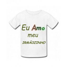 Camiseta personalizada infantil meu irm?ozinho
