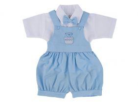 Conjunto Bebê Social Curto Batizado P ao G