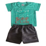 Conjunto Infantil Camiseta e Bermuda Surf Club