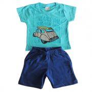 Conjunto Infantil Camiseta e Bermuda Surf News