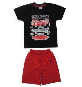 Conjunto Infantil Camiseta  Skate e Bermuda
