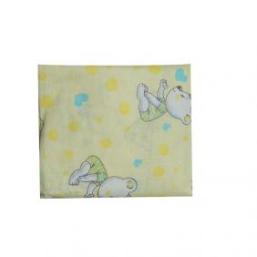 Lençol com Elástico Estampa de Ursinho Amarelo