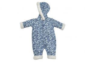 Macacão Infantil Menino Azul Longo Esquimó