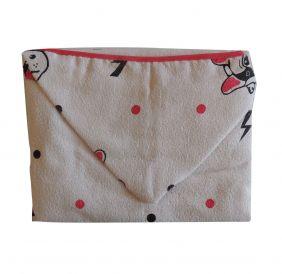 Toalha de Banho Capuz Dog Branco
