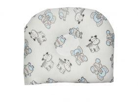 Travesseiro Anatômico para Bebê Estampa Elefantes e Zebras