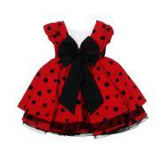 Vestido Infantil Luxo Vermelho - Tam 1 ao 3