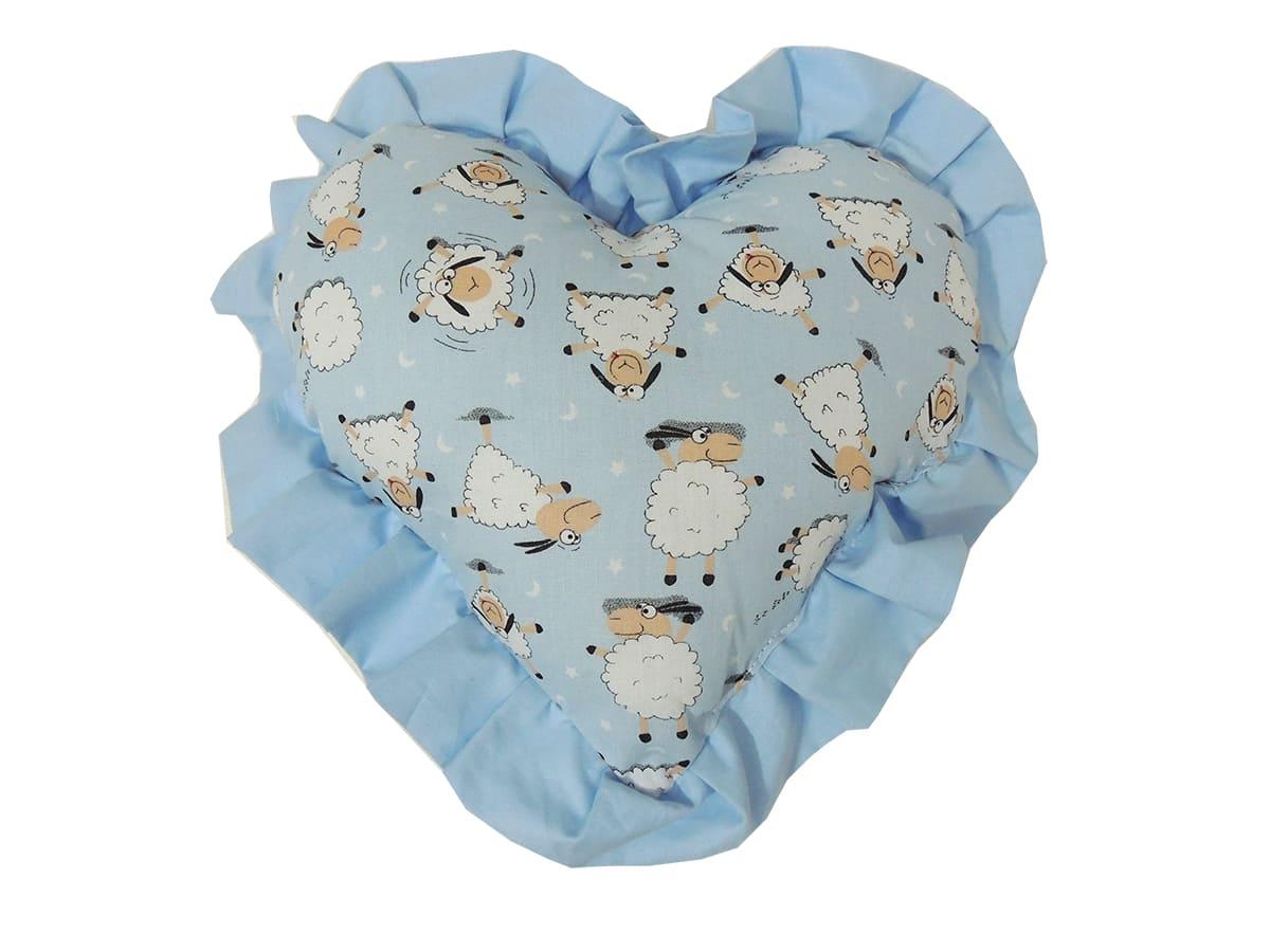 Almofada de Amamentação Ovelhinha com Coração Azul