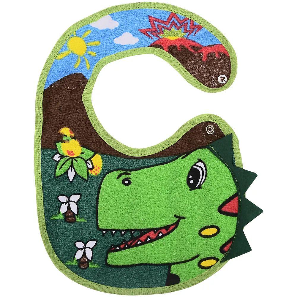 Babador Impermeável 3D Dinossauro