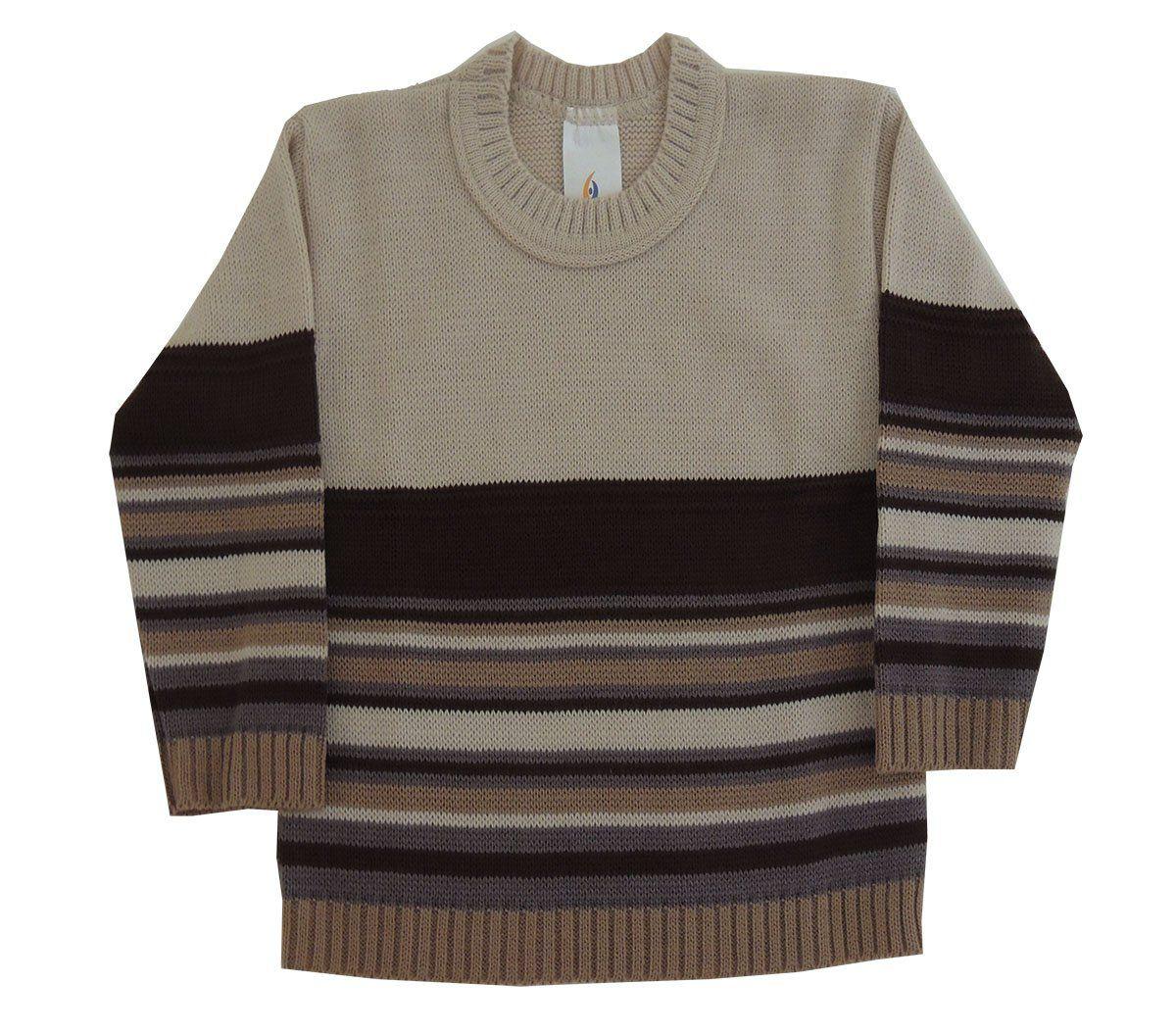 Blusa de Lã Listrado Infantil Masculino