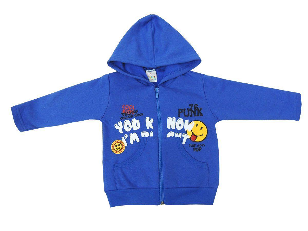 Blusa Infantil de Moletom com Capuz