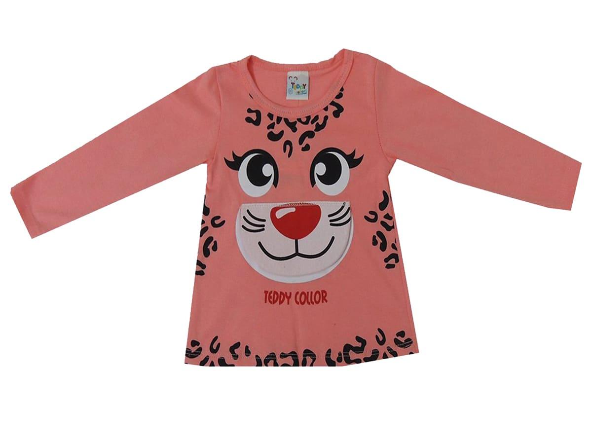 Blusa Manga Longa Infantil Feminina Tigre