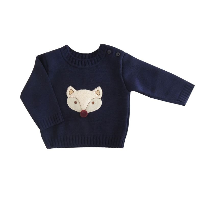 Blusa Trico Bebê Menino Fox