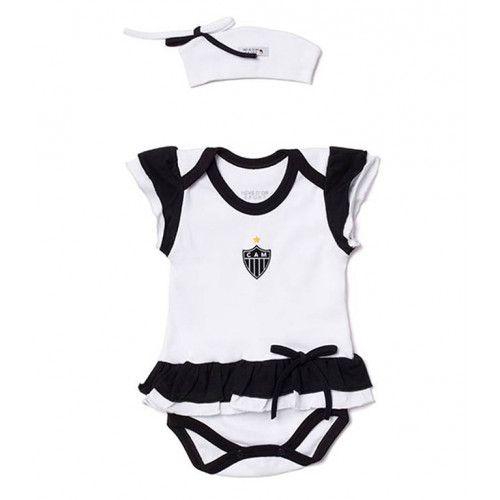 Body Bebê com Saia e Tiara Atlético Mineiro
