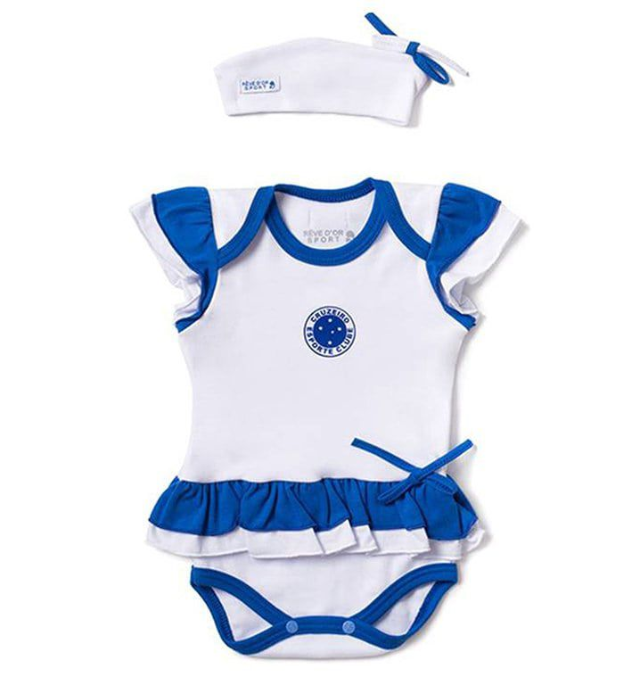 Body Bebê com Saia e Tiara Cruzeiro