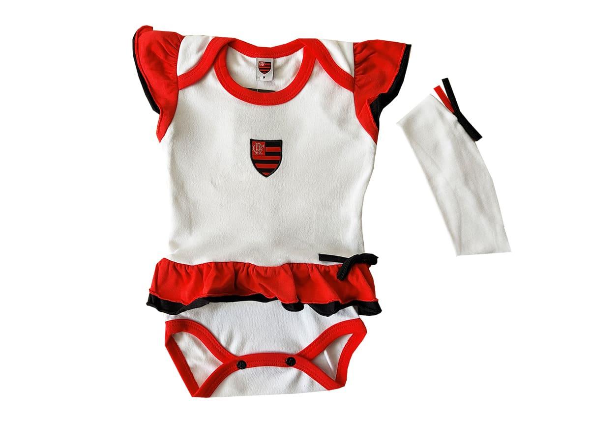Body Bebê com Saia e Tiara Flamengo