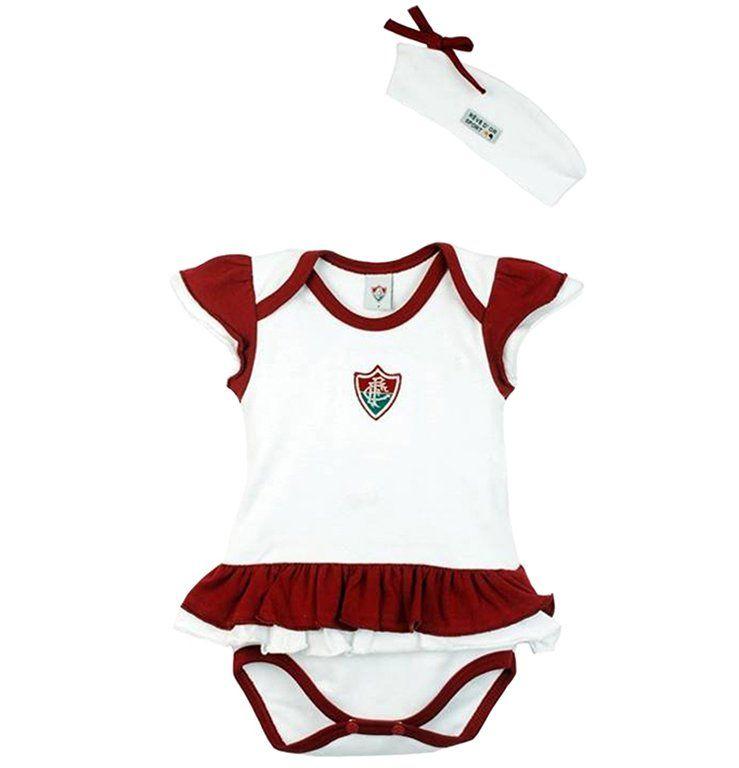 Body Bebê com Saia e Tiara Fluminense
