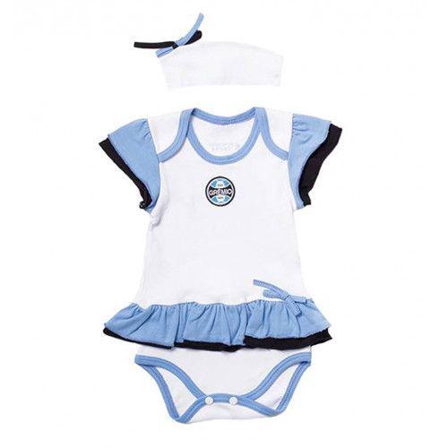 Body Bebê com Saia e Tiara Grêmio