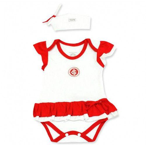 Body Bebê com Saia e Tiara Internacional
