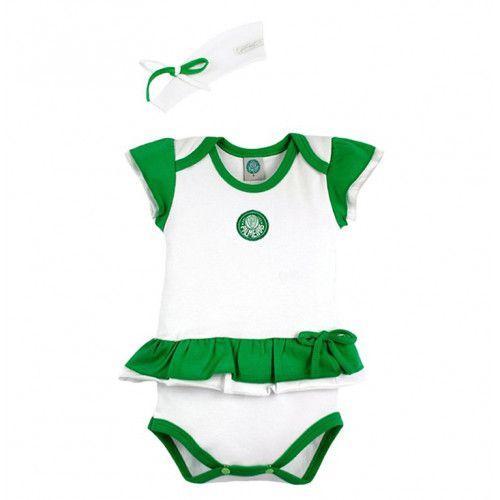 Body Bebê com Saia e Tiara Palmeiras