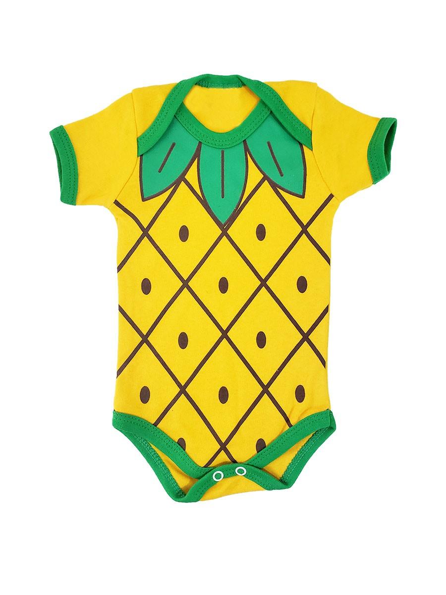 Body Bebê Estampa de Abacaxi