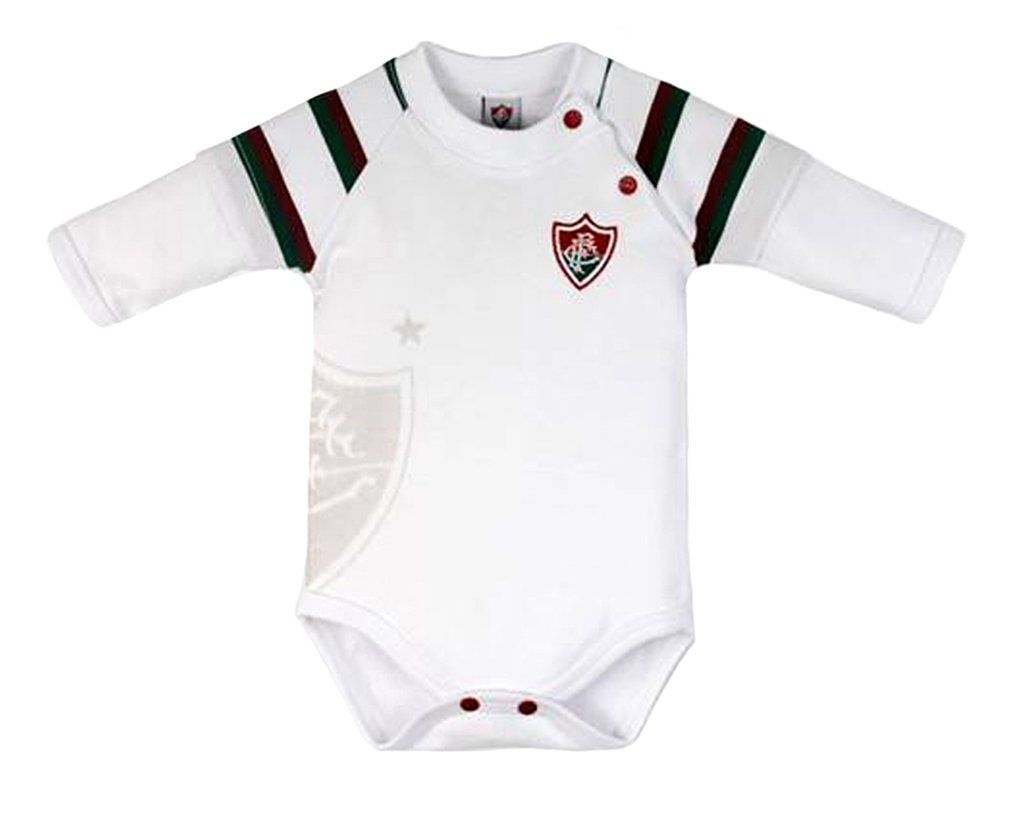 Body Bebê Fluminense Manga Longa Unissex