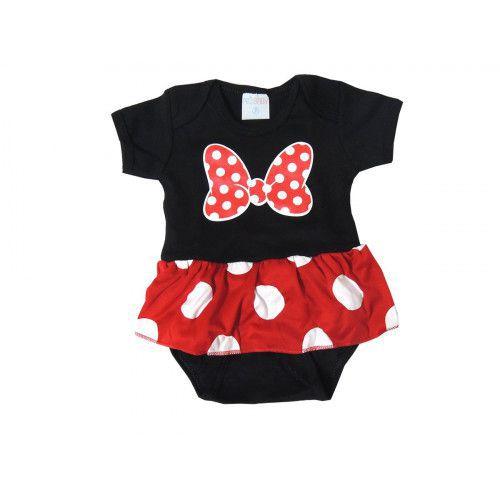 Body Bebê M/ C Personagem Minie com Saia - Pro Baby