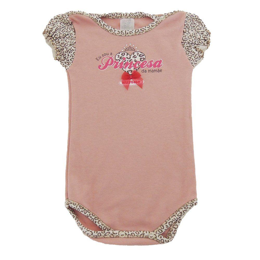 Body Bebê M/C Princesinha da Mamãe
