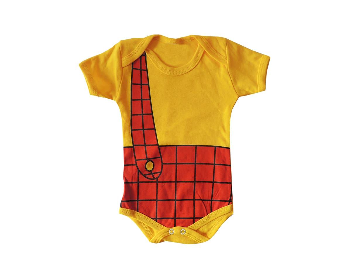 Body Bebê Manga Curta Cascão