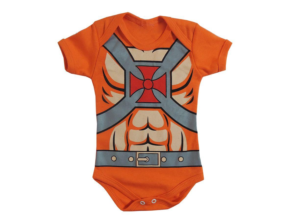 Body Bebê Manga Curta He Man