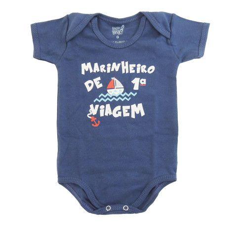 Body Bebê Manga Curta Marinheiro de 1ª Viagem