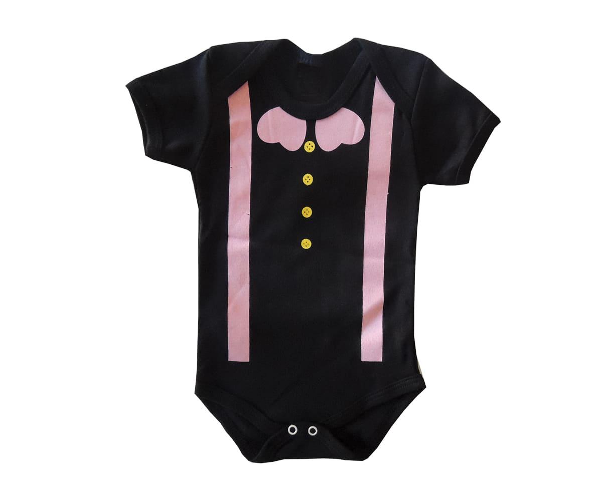 Body Bebê Manga Curta Mundo Bita