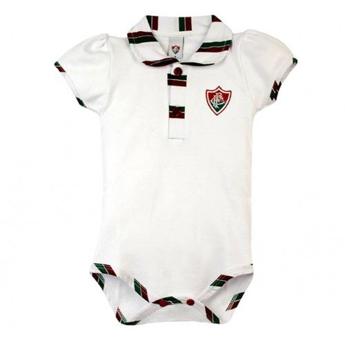Body Bebê Manga Curta Polo Menina Fluminense