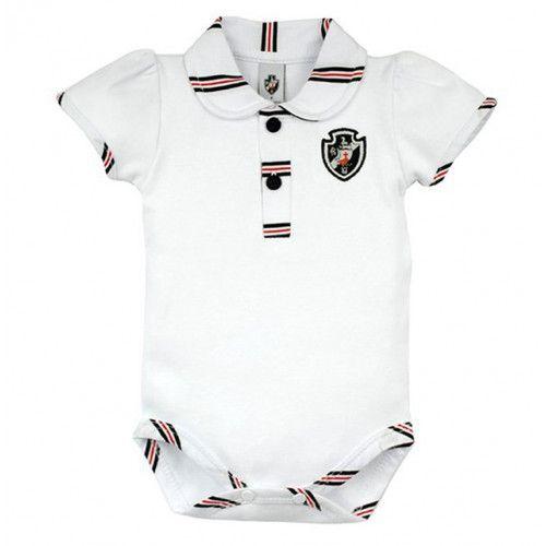 Body Bebê Manga Curta Polo Menina Vasco