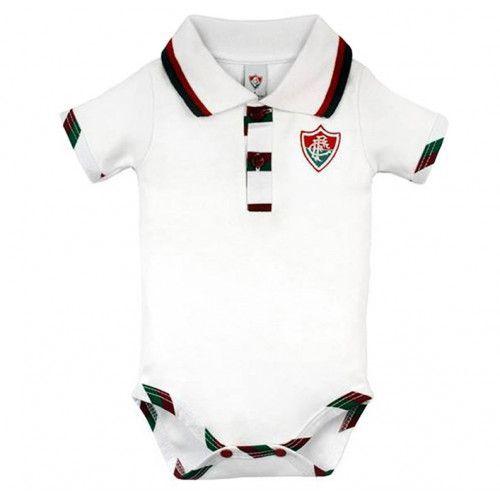 Body Bebê Manga Curta Polo Menino Fluminense