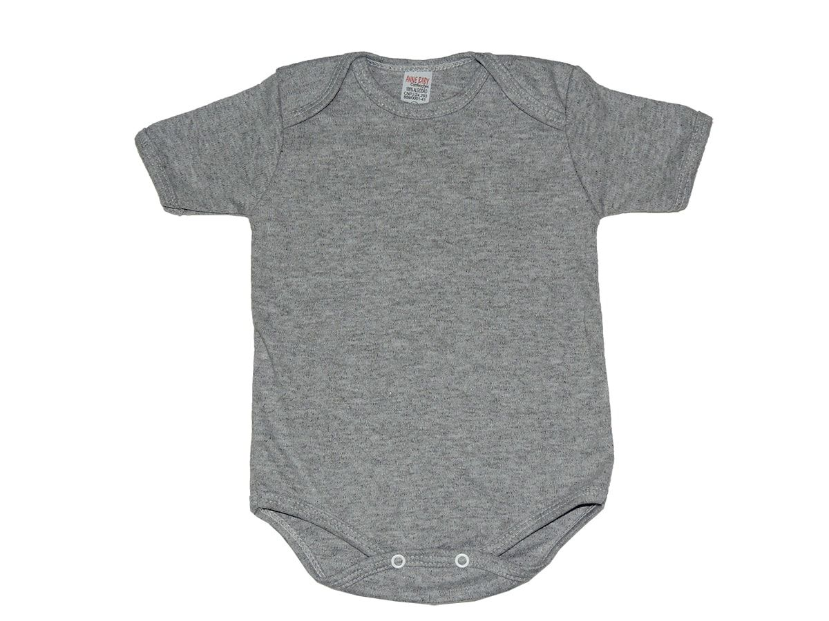 Body Bebê Manga Curta Suedine Liso