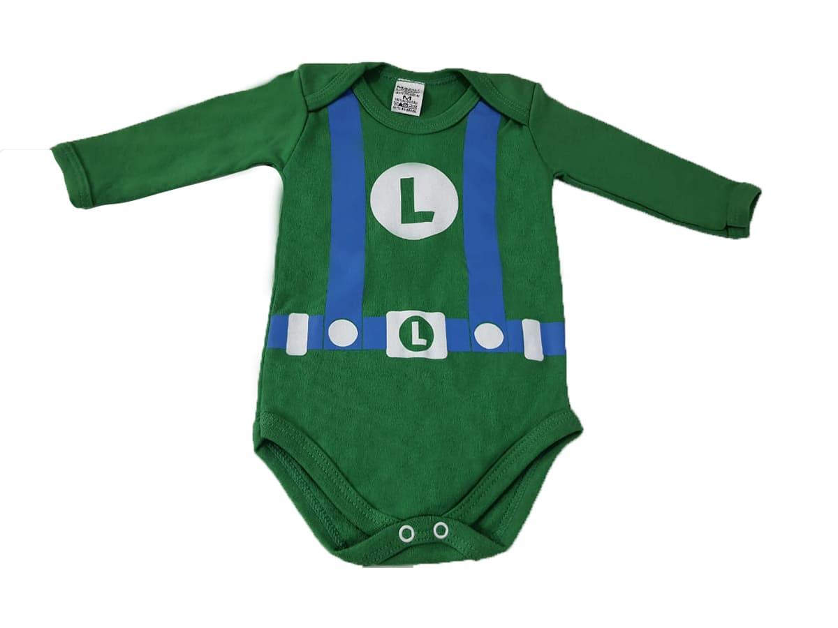 Body Bebê Manga Longa - Luigi
