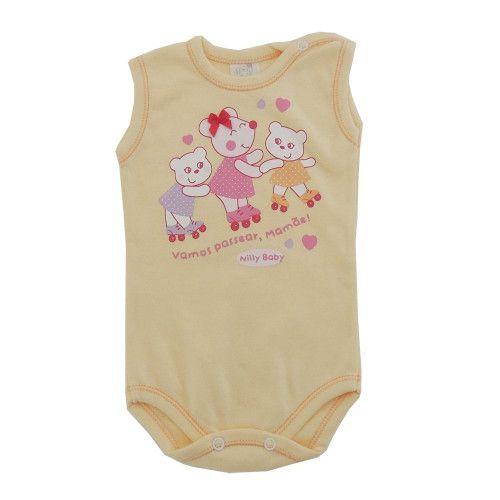Body Bebê Menina Regata Ursinhas Passeando