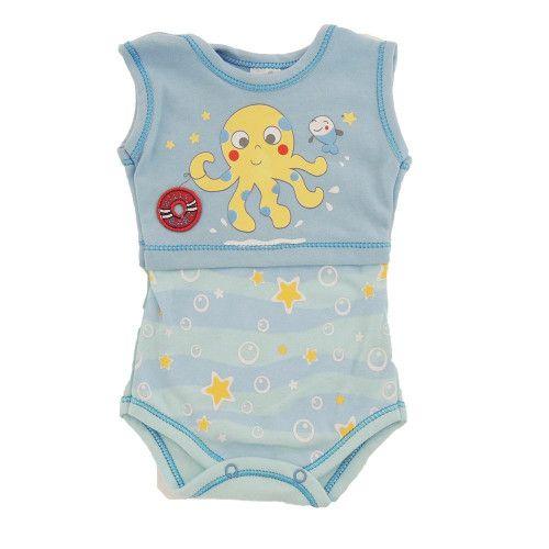 Body Bebê Menino Regata Fundo do Mar