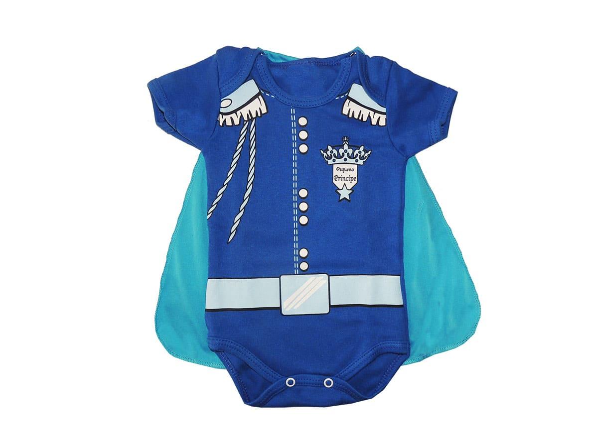 Body Bebê Pequeno Príncipe com Capa
