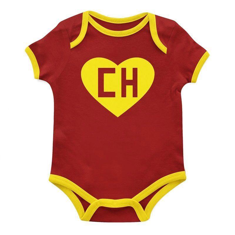 Body Bebê Personagem Manga Curta Chapolin