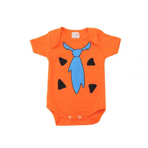Body Bebê Personagem Manga Curta Flintstones