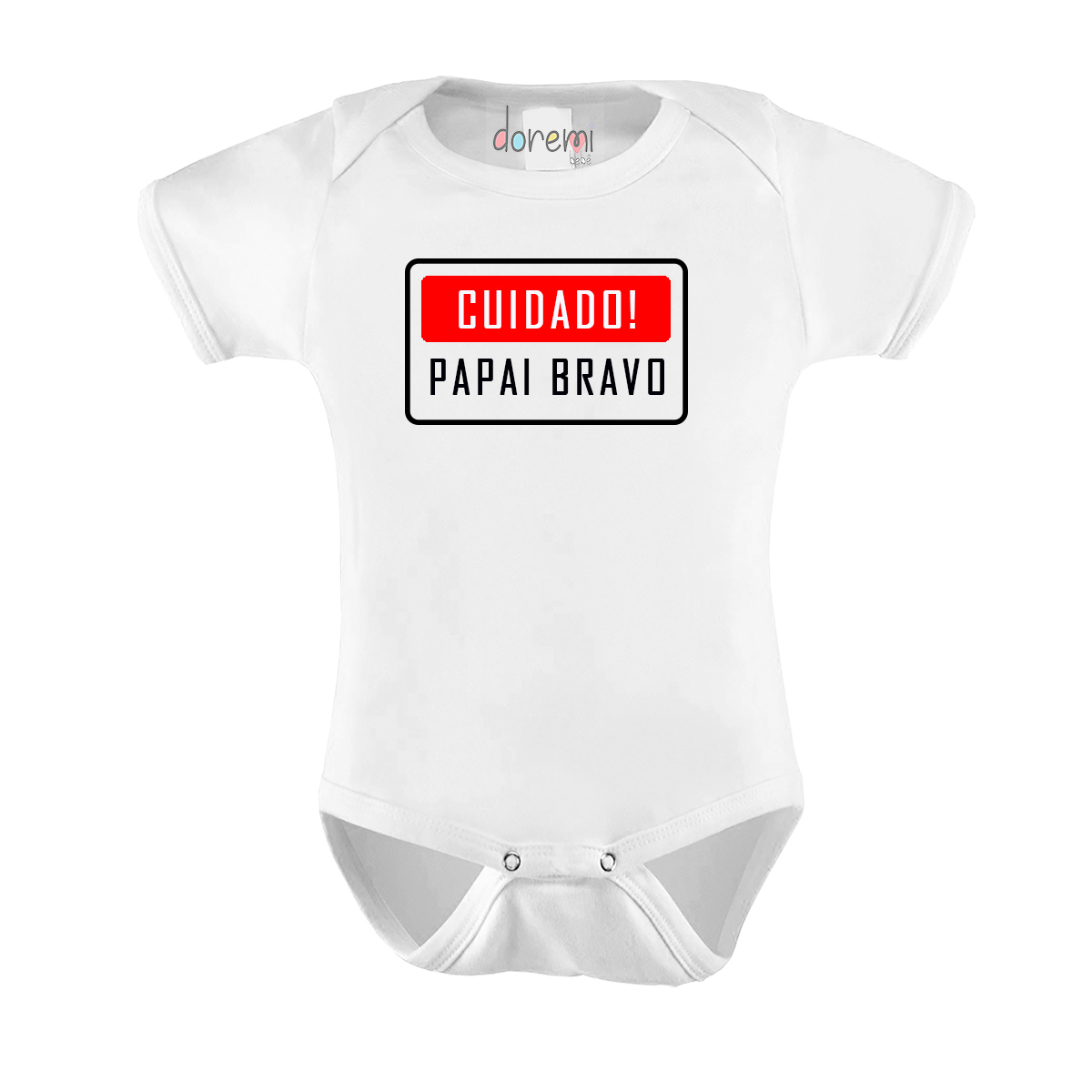 Body Bebê personalizado - Cuidado Papai Bravo