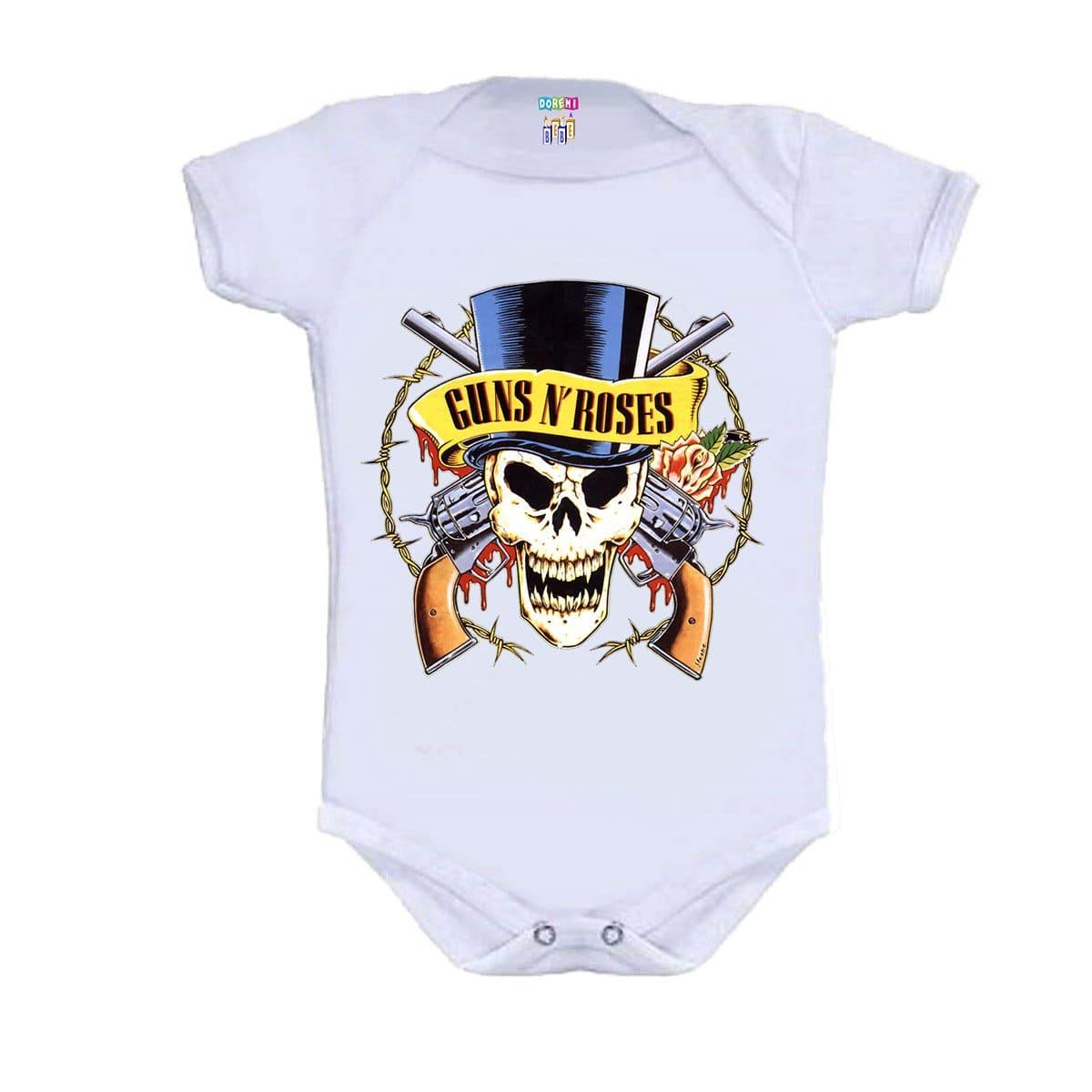 Body Bebê Personalizado Manga Curta Guns N' Roses