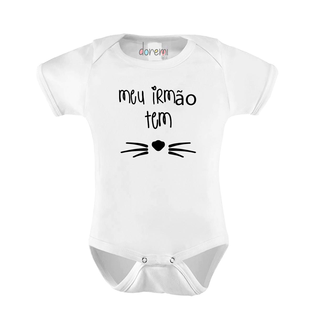 Body Bebê personalizado - Meu Irmão Tem Bigodes