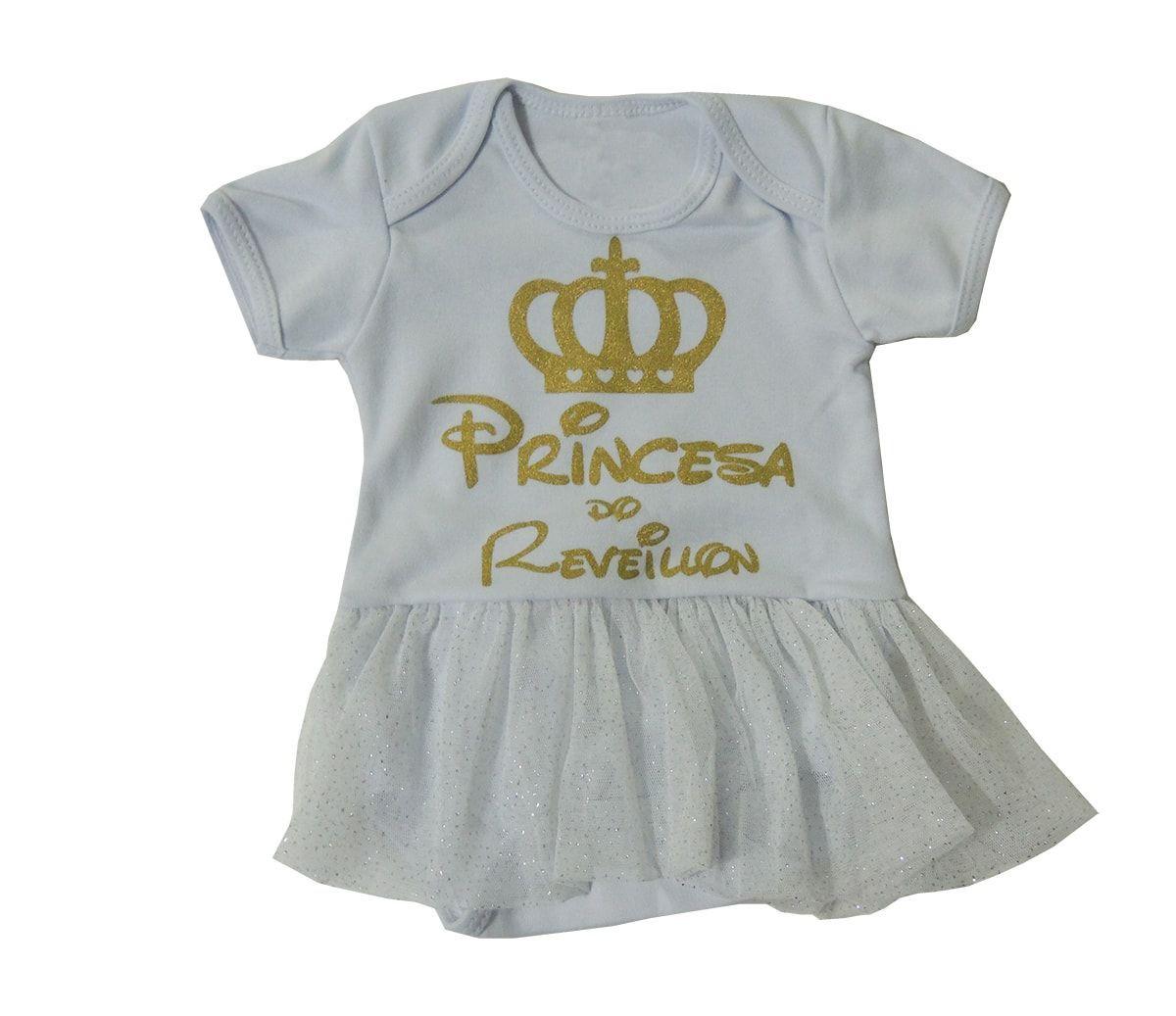 Body Bebê Princesa do Reveillon